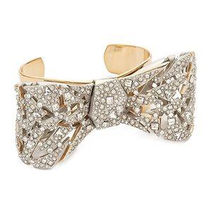 Alexis Bittar Crystal Mosaic Bow Cuff Bracelet